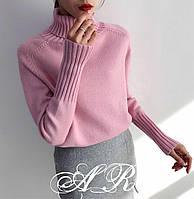 Кашемировый женский свитер с высоким воротником 79ddet675