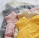 Женский вязаный свитер с узором и высоким воротником 79ddet678, фото 6