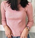 Женский гольф рубчик с длинным рукавом и узором 79ddet237, фото 2