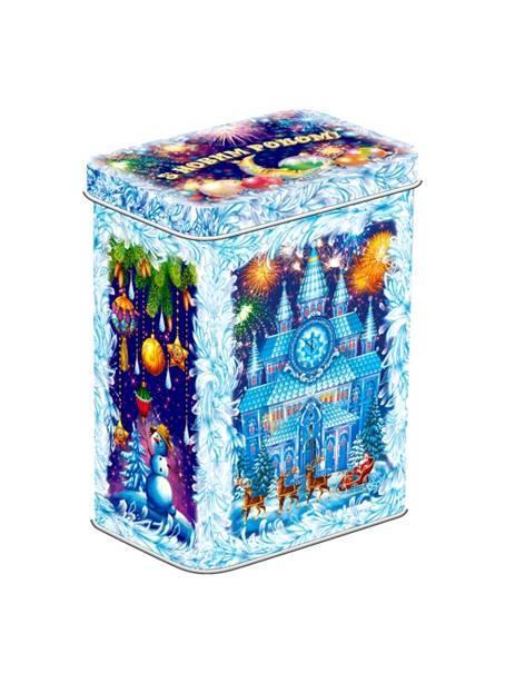 Новогодний подарок 2020 Жестяная коробка 700 гр