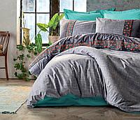 Полуторный комплект постельного белья с вышивкой, Турция