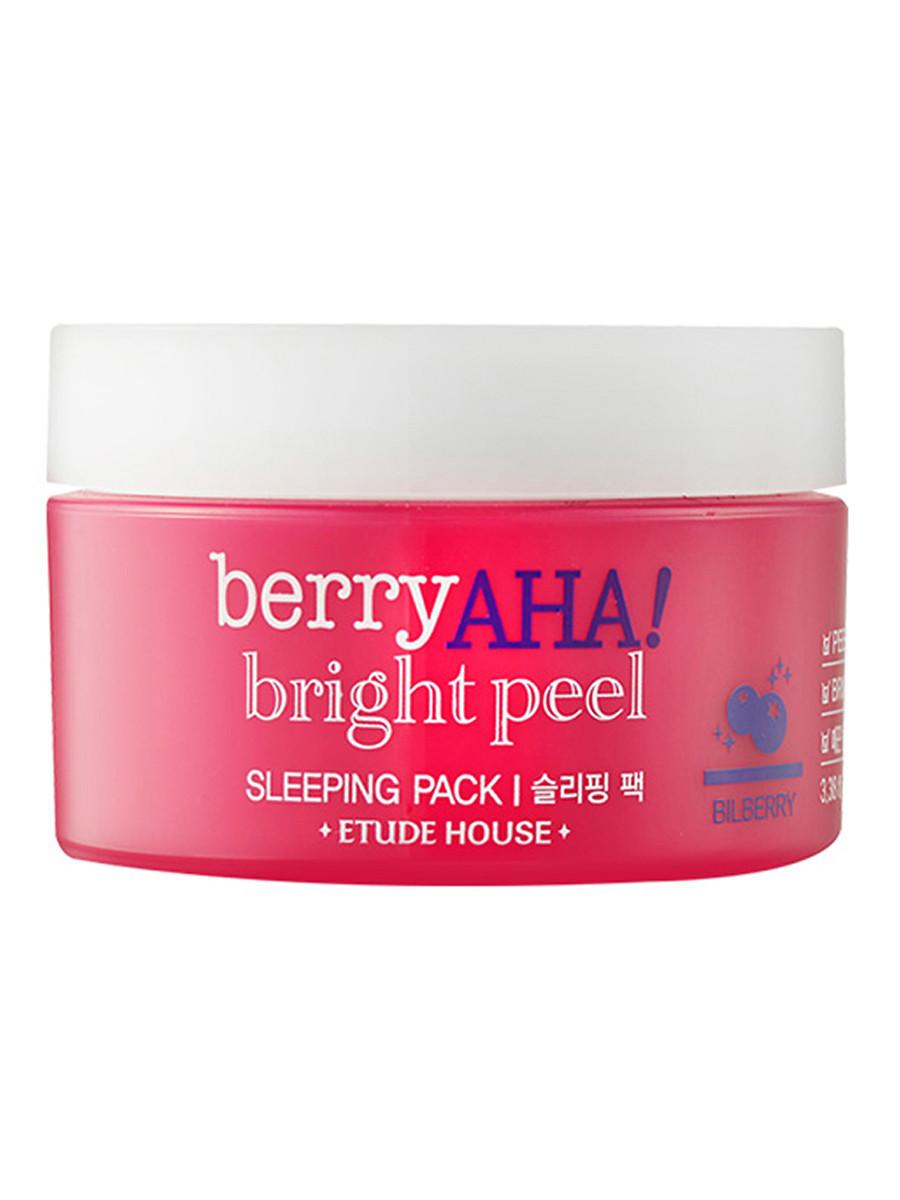 Нічна маска з ефектом пілінгу з АНА-кислотами Etude House Berry AHA Bright Peel Sleeping Pack 100 мл
