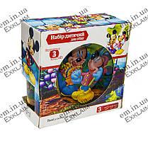 Стеклянный набор детской посуды Микки Маус