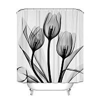 Штора для ванной Чёрные тюльпаны 180 х 180 см Berni