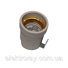 Патрон керамический с планкой E27 ElectroHouse