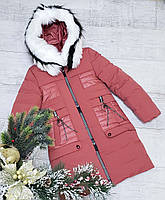 Зимняя куртка 66-477 на 100% холлофайбере размеры от 134 см до 158см рост, фото 1