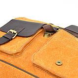 Портфель чоловічий мікс тканини канвас і шкіри RY-1282-4lx TARWA, фото 7