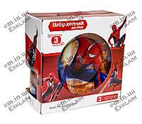 Стеклянный набор детской посуды Человек паук