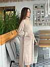 Вязаное свободное платье с карманами и высоким воротником 41plt251, фото 4
