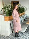 Вязаное свободное платье с карманами и высоким воротником 41plt251, фото 5