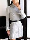 Теплое кашемировое вязное платье с высоким воротником 20plt253, фото 2