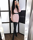Теплое кашемировое вязное платье с высоким воротником 20plt253, фото 3