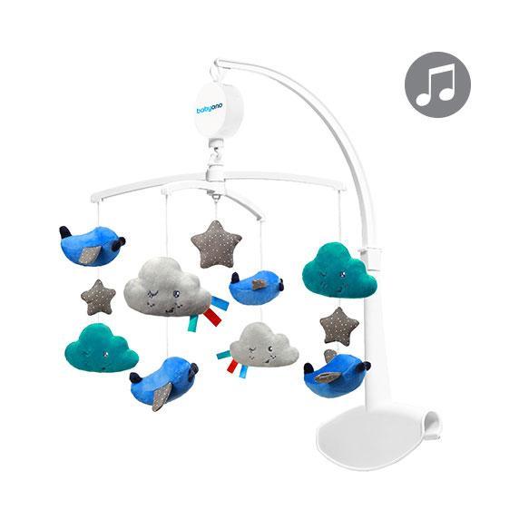 Музыкальный мобиль-каруселька для кроватки Самолетики BabyOno