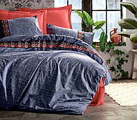 Двуспальный комплект постельного белья с вышивкой, Турция