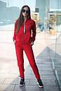 Спортивный женский костюм на флисе с мастеркой на молнии 52spt802, фото 3