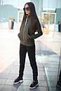 Спортивный женский костюм на флисе с мастеркой на молнии 52spt802, фото 4