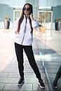 Спортивный женский костюм на флисе с мастеркой на молнии 52spt802, фото 5