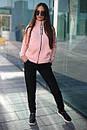 Спортивный женский костюм на флисе с мастеркой на молнии 52spt802, фото 6