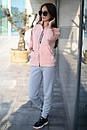Спортивный женский костюм на флисе с мастеркой на молнии 52spt802, фото 7