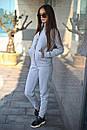 Спортивный женский костюм на флисе с мастеркой на молнии 52spt802, фото 8