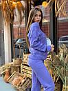 Женский вязаный костюм с бусинами на кофте и зауженными штанами 40kos291, фото 4