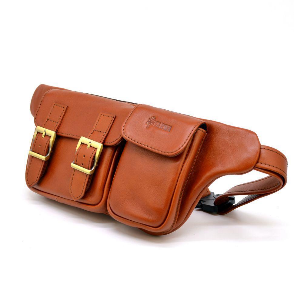Рыжая кожаная напоясная сумка GB-3029-4lx TARWA