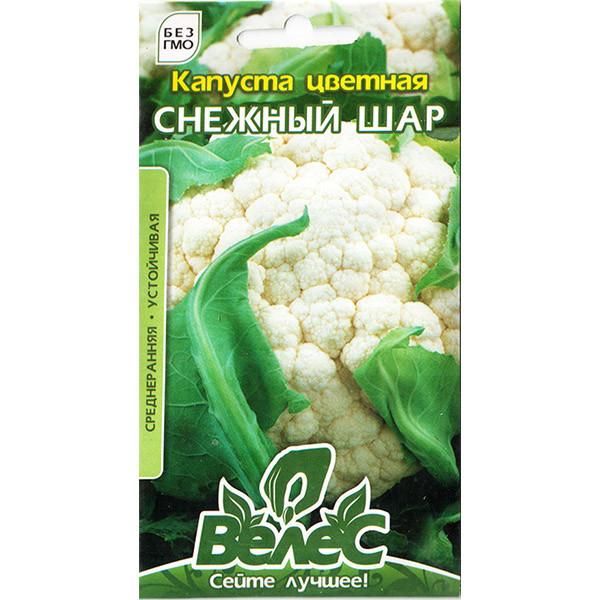 "Семена капусты ""Снежный шар"" (0,3 г) от ТМ ""Велес"""