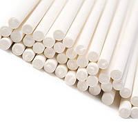 Палочки для кейк- попсов БУМАЖНЫЕ, белые, 20 см