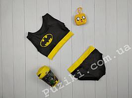Черно-желтый эластичный костюм для Pole dance 116-150 см