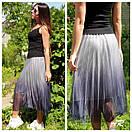 Фатиновая женская юбка миди с градиентом 79jus324, фото 2