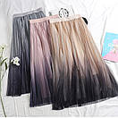 Фатиновая женская юбка миди с градиентом 79jus324, фото 3