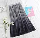 Фатиновая женская юбка миди с градиентом 79jus324, фото 4