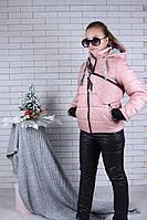 Подростковый зимний костюм для девочки с бананкой,9-14 лет, розового цвета