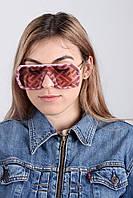 Солнцезащитные очки  Cолнцезащитные женские очки 1706 розовые Общая ширина 14.0(см)/ Высота линзы 5.0(см)/ Ширина линзы 5.3(см)  (1706)