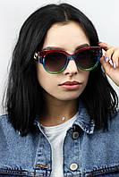 Солнцезащитные очки  Cолнцезащитные женские очки 1877 красные Общая ширина 14.4(см)/ Высота линзы 5.5(см)/ Ширина линзы 4,5(см)  (1877)
