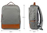 Бизнес рюкзак тканевый для мужчин K-1002gr Y-Master, фото 3