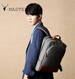 Бизнес рюкзак тканевый для мужчин K-1002gr Y-Master, фото 4