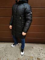 Мужская зимняя стёганная куртка-парка с капюшоном