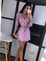 Платье женское люрексовое на запах, фото 1