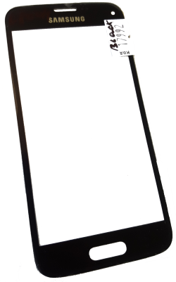 Стекло для переклейки дисплея Samsung G800H, S5 Mini, черное