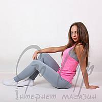 Женские спортивные лосины, тайтсы с высокой талией, леггинсы, одежда, для фитнеса, спорта, йоги, бега Серый, Размер (S)