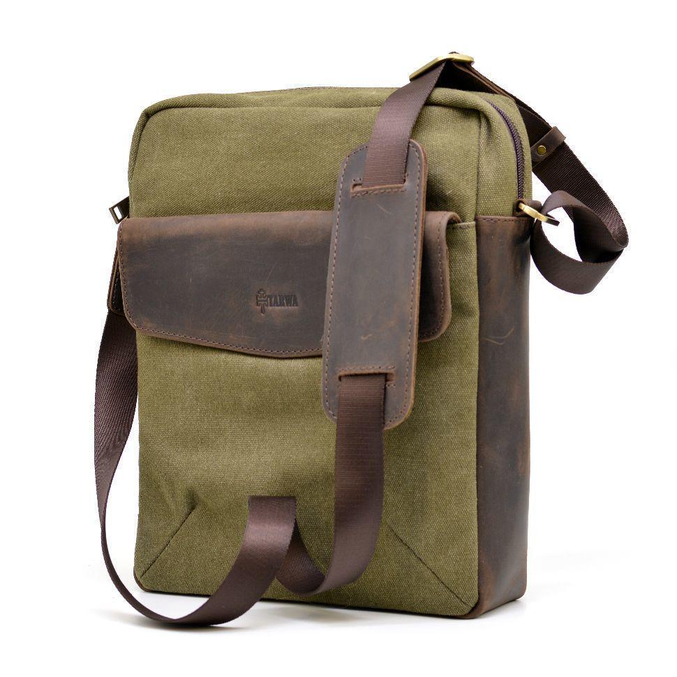 Чоловіча сумка, мікс парусина+шкіра RH-1810-4lx бренду TARWA
