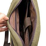 Чоловіча сумка, мікс парусина+шкіра RH-1810-4lx бренду TARWA, фото 5