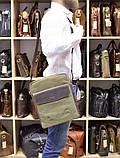 Чоловіча сумка, мікс парусина+шкіра RH-1810-4lx бренду TARWA, фото 8