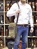 Чоловіча сумка, мікс парусина+шкіра RH-1810-4lx бренду TARWA, фото 9