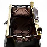 Саквояж з телячої шкіри темно-коричневий бренд TARWA МС-1221-4lx, фото 8