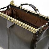 Саквояж з телячої шкіри темно-коричневий бренд TARWA МС-1221-4lx, фото 9
