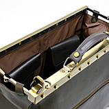 Саквояж з телячої шкіри темно-коричневий бренд TARWA МС-1221-4lx, фото 10