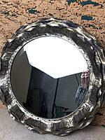 Зеркало настенное круглое лофт металлическое LOFT с рамкой
