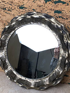 Дзеркало настінне кругле лофт металеве LOFT з рамкою